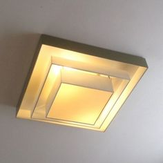 For sale through RetroStart: Ziggurat Ceiling Lamp from the sixties by Unknown Designer for Raak Amsterdam Ceiling Lamp, Ceiling Lights, Box Kite, Amsterdam, Lighting, 1960s, Design, House, Home Decor