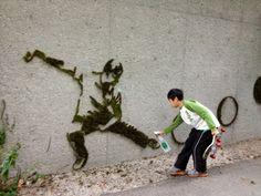 живое граффити