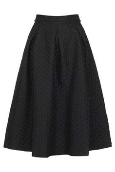 Diamond Jacquard Midi Skirt - Skirts  - Clothing