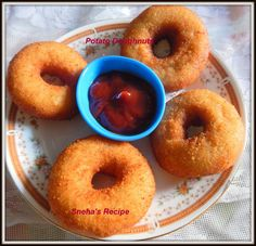 Potato Doughnuts / Donat Kentang - Indonesia - Savory Doughnuts ~ Sneha's Recipe