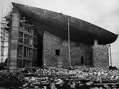Ronchamp / Le Corbusier (construction phase)