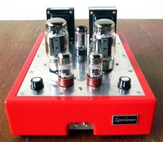 Specimen Custom Single-ended Hi-Fi Stereo Tube Amplifier Best Surround Sound, Valve Amplifier, Horn Speakers, Best Home Theater, Build Your Own House, High End Audio, Hifi Audio, Vacuum Tube, Cool Tech