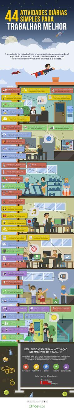 44 Atividades diárias simples para trabalhar melhor