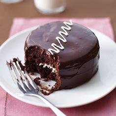 Chocolate Cream Cakes  #recipe #cake #chocolate