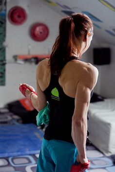 edartist:    Check out the awesome physique of climbing champion Mina Markovic! She was the winner of the 2011 IFSC Climbing Worldcup.