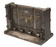Zona Mortalis is a modular system by Forgeworld to create structures for Warhammer Warhammer Paint, Warhammer 40k Art, Warhammer 40k Miniatures, Game Terrain, 40k Terrain, Wargaming Terrain, Bunker, Warhammer Imperial Guard, Sci Fi Miniatures