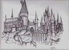hogwarts castle | Hogwarts Castle by *LilMissLeah on deviantART