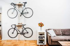DIY Bicycle Rack Built For Two | Apartment Therapy