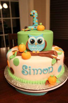 Owl Pumpkin themed cake