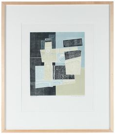 """19893- Rob Delamater, 2012, Monotype on Paper, 24""""x28"""" Framed, Price: $585  #abstract #monotype"""