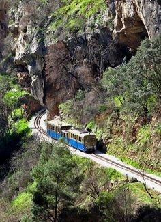 Greece Travel Inspiration - Going down the canyon Vouraikos to Diakofto - Kalavryta, Peloponnese / by Dimitris G. Beautiful Islands, Beautiful World, Beautiful Places, Corinth Canal, Places Around The World, Around The Worlds, Places In Greece, Greece Travel, Santorini