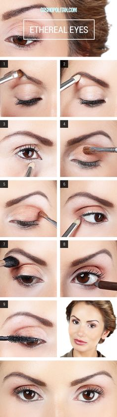 Makeup How-To: Ethereal Eyes (How to Apply Champagne Eyeshadow) - Eye Makeup Tutorial - Cosmopolitan