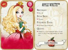 Ever After High Apple White Ever After High Names, Winx Club, Kinra Girl, Triste Disney, After High School, Raven Queen, Fairest Of Them All, Fairy Princesses, Little Pigs