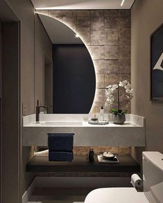 Washroom Design, Toilet Design, Bathroom Design Luxury, Bathroom Modern, Small Bathroom, Master Bathroom, Home Room Design, Dream Home Design, Home Interior Design