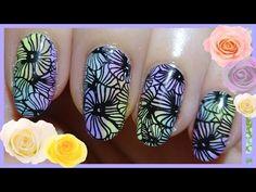 ▶ パステルフラワー pastel flower nail stamping スタンピングネイル - YouTube
