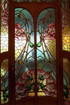 Antique Stain Glass #StainedGlassModern