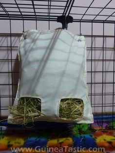 Instructions: Making a Hay Bag- This would be usefull, fill it up with hay so while I'm at school my hammy has something to nibble on!