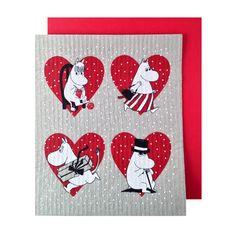 Moomin Christmas Card And Dish Cloth @HusetShop