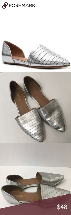 Ella Moss Silver D'Orsay Flats Style: Serena. Great preowned condition. Style fits large, marked 8.5 but fits like a true 9. Ella Moss Shoes Flats & Loafers