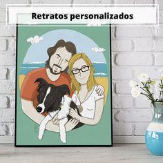 Retratos ilustrados - Ilustración y diseño gráfico