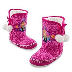 Disney Anna Deluxe Slippers for Girls - Frozen   Disney StoreAnna Deluxe Slippers for Girls - Frozen - Boot-up for daily adventures in Anna's super-soft and warm sherpa style slippers with crochet-knit uppers, faux-suede trim, wooly warmwear lining and embroidered detailing.