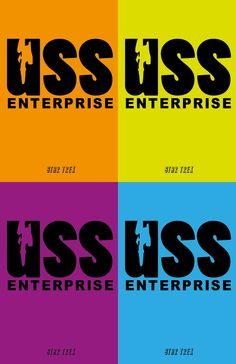 USS enterprise nerdic Colorful Style.