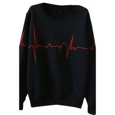 OASAP Chic Flashlight Print Fleece Cozy Sweatshirt For Women ($18) ❤ liked on Polyvore featuring tops, hoodies, sweatshirts, fleece sweat shirts, black sweatshirt, print sweatshirt, fleece tops and patterned sweatshirts
