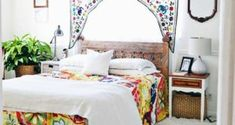 Colorful bedroom with our moroccan style Maya rug. Click to shop! | Rugs Direct ...