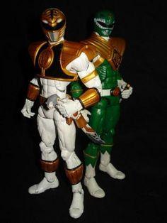 Mighty Morphin Power Rangers: White. And Green Ranger (Power Rangers) Custom Action Figure