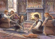 harry and ginny! harry potter and ginny weasley (c) jo rowling smoooch. Harry Potter House Colors, Harry Potter Artwork, Harry Potter Drawings, Harry Potter Room, Harry Potter Films, Harry James Potter, Harry Potter World, Rowling Harry Potter, Harry Potter Spells