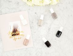 Essie Favorites by Alexa Dagmar is a collection of six neutral polishes, with shades that vary from the deepest black to brightest white. It's a well balanced collection of classics that covers every occasion from party polishes to everyday nails, and from winter to summer.  | Shakespeare & Sparkle
