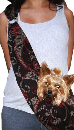 Dog Sling- Dog Carrier Sling, Slings For Dogs, Cute, Puppy, Pets Slings, Slings For Small Dogs, Teac