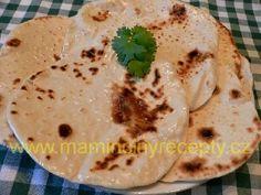 Indické placky Hummus, Ethnic Recipes, Indie, Pizza, Food, Essen, Meals, Yemek, Eten