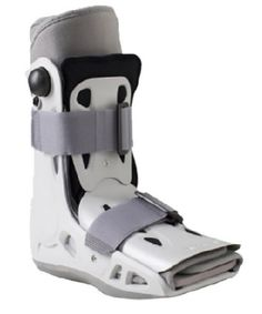 AIRCAST AIRSELECT SHORT WALKING BOOT - A short pneumatic walking brace, ideal for Metatarsal fractures, forefoot & midfoot injury, acute or post-operative use. It immobilizes the foot and ankle, decreases pain while walking, expedites healing process.