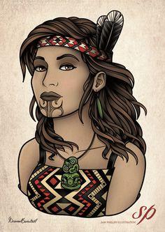 Image of Maori Girl Print