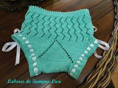 Labores de siempre: Normas generales de cómo hacer braguitas de bebé Crochet Bikini, Knit Crochet, Present Wrapping, Baby Costumes, Baby Wearing, Tree Branches, Baby Knitting, Baby Gifts, Knitting Patterns