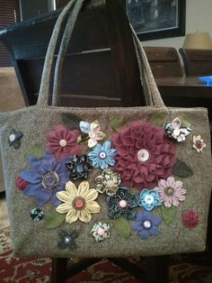 Tweed bag I made  for Team Asher's 2012 silent auction for the CFFoundation