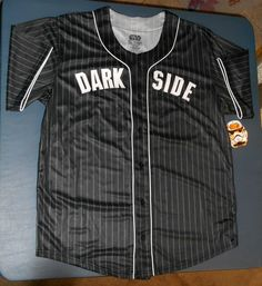 SOLD OUT AND CURRENTLY UNAVAILABLE. PLEASE DISREGARD THE LISTED QUANTITY.    Star Wars Darth Vader Dark Side Baseball Jersey   - Size Men's 2XL   - Co
