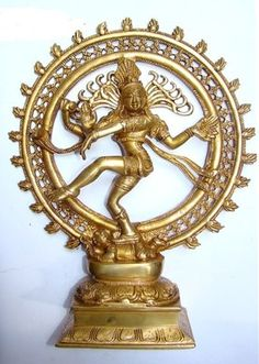 Lord Natraj Shiva Brass Idol Statue Antique Handicraft For Home Decor By The Brass Shop God Idols & Statues on Shimply.com