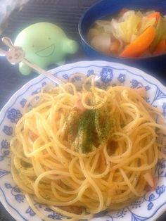 生クリーム、粉チーズ、卵黄とシンプルな材料しか使ってないのに、こってりして美味しかったです(*^o^*) - 3件のもぐもぐ - カルボナーラ by lovenameko