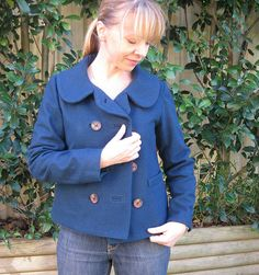 """Well, limping to the finish line, a bit battered and bloodied (from needle and pin pricks no doubt) I have finally finished my jacket. Even my hubby started saying """"aren't you done yet… Colette Patterns, Sewing Patterns, Projects To Try, Jackets, Fashion, Sacks, Down Jackets, Moda, Fashion Styles"""