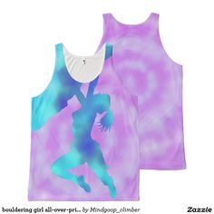 bouldering girl all-over-print tank top