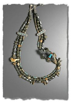 Furry Badger Necklace - Mary Hicklin