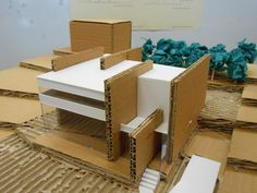 Maquette Architecture, Concept Models Architecture, Architecture Model Making, Studios Architecture, Architecture Portfolio, Architecture Design, Paper Architecture, Architectural Design Studio, Modern Villa Design