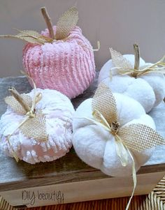 DIY beautify: Shabby Pumpkins