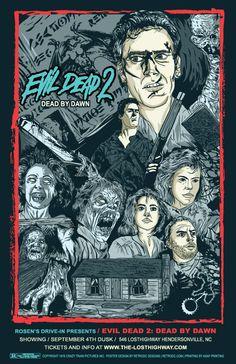 #evildead 2 retro poster art