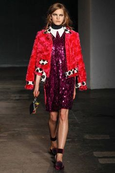House of Holland | Fall 2014 Ready-to-Wear Collection | Loving the pom pom shoes