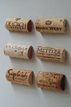 I can make these! Wine Cork Magnets