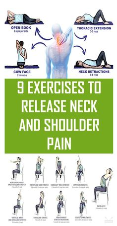 Shoulder Pain Relief, Neck Pain Relief, Neck And Shoulder Pain, Neck And Back Pain, Neck And Shoulder Exercises, Posture Exercises, Shoulder Workout, Neck Stretches, Cervical Spine Exercises