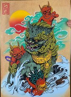Foo Dog Tattoo Design, Tattoo Designs, Japanese Hand Tattoos, Hannya Mask Tattoo, Fu Dog, Traditional Tattoo Design, Asian Tattoos, Japan Tattoo, Oriental Tattoo